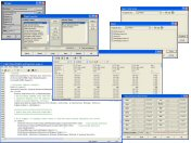 Screenshot of PRANA data management tools